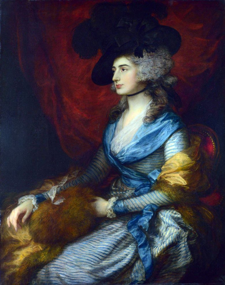 Potret Sarah Siddons   Thomas Gainsborough