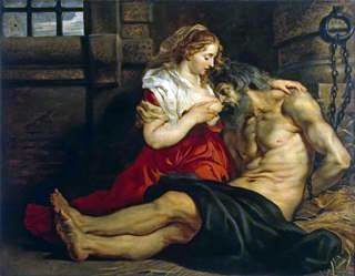 The Ocotism of the Roman Woman (Cimon dan Feather)   Peter Rubens