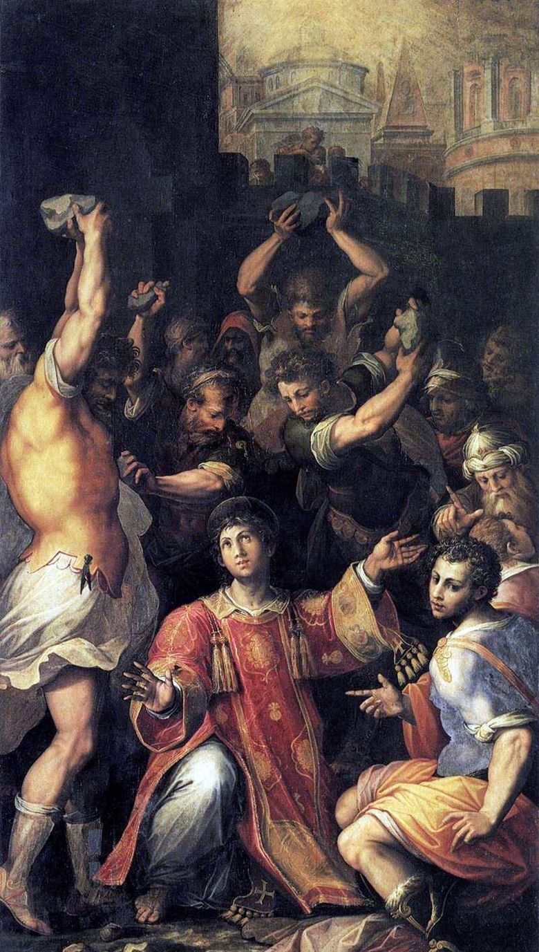 The Martyrdom of St. Stephen   Giorgio Vasari