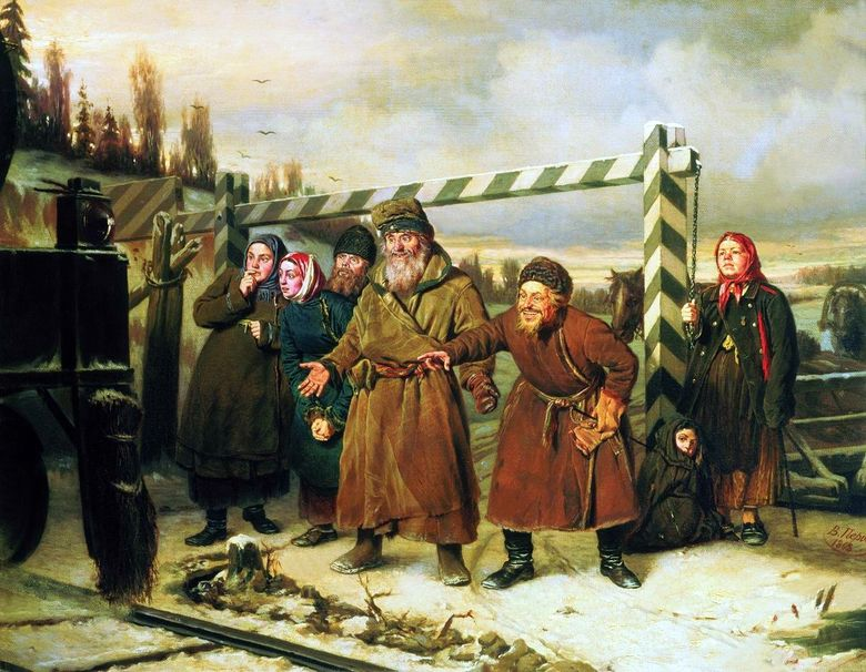 Railroad Scene   Vasily Perov