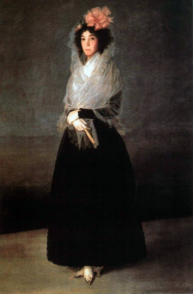 Potret Countess Carpio, Marquise de la Solana   Francisco de Goya