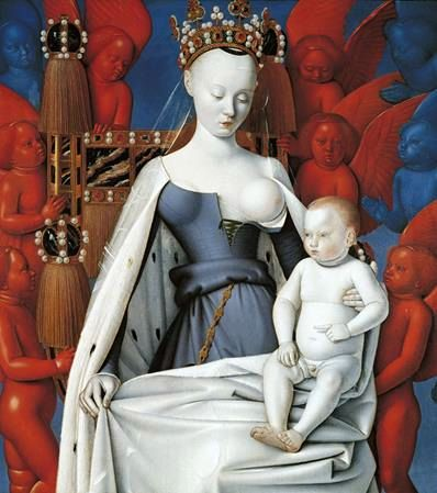 Madonna and Child   Jean Fouquet