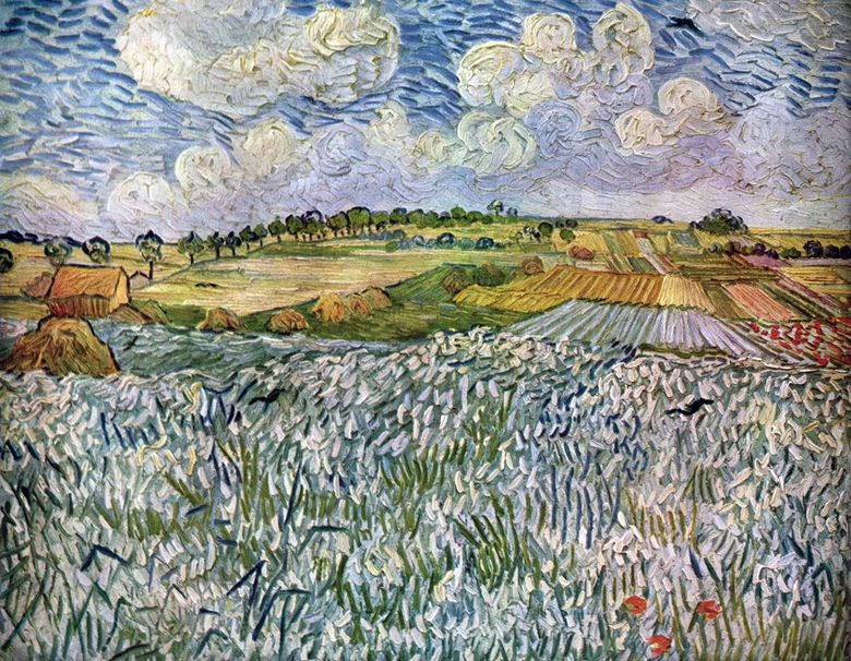 Landscape dekat Auvers: Wheat Fields   Vincent Van Gogh