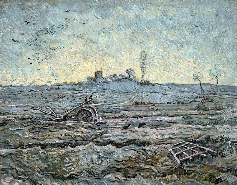 Bajak dan Harrow (oleh Mill)   Vincent Van Gogh