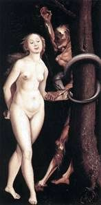 Eve, the Snake and Death   Hans Baldung