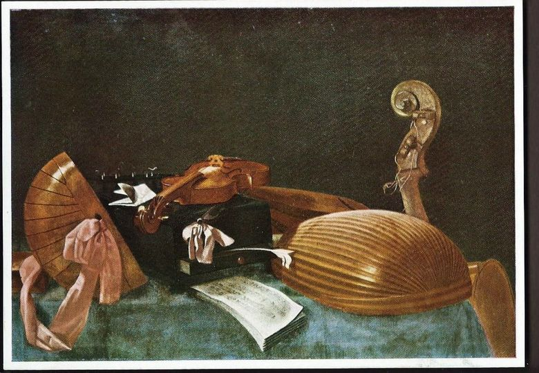 Still Life with Musical Instruments   Evaristo Baskenis