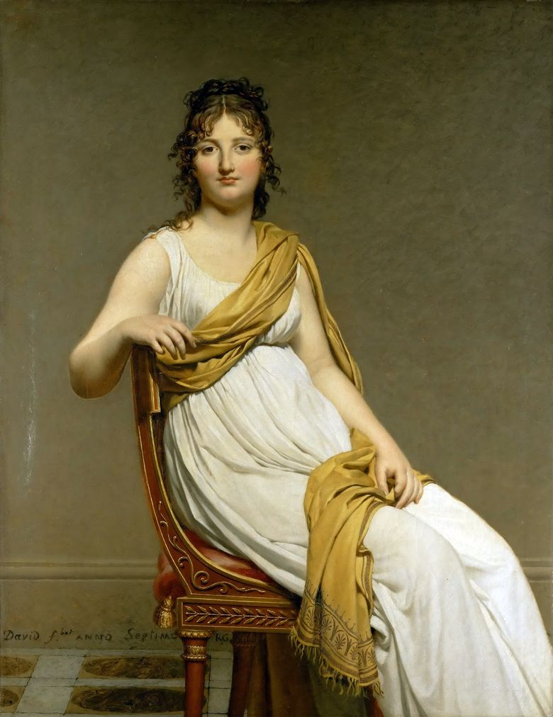 Potret Lavoisier dan istrinya Marie Anne   Jacques Louis David