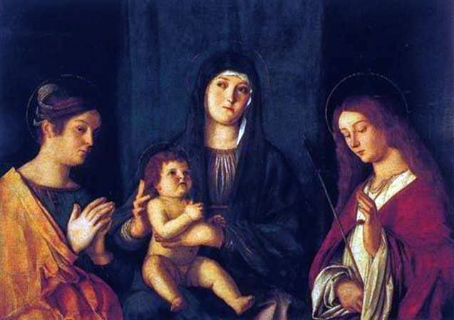 Madonna and Child bersama St. Catherine dan St. Ursula   Giovanni Bellini
