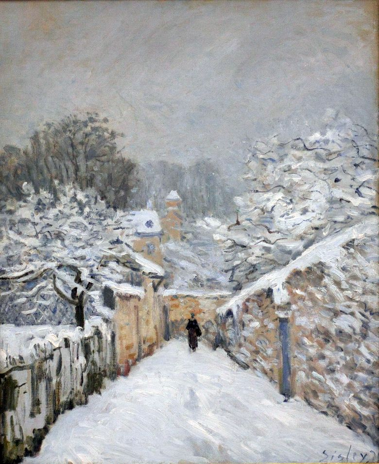 Snow at Louveciennes   Alfred Sisley