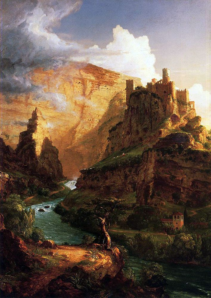 Castle on the Hill   Thomas Cole