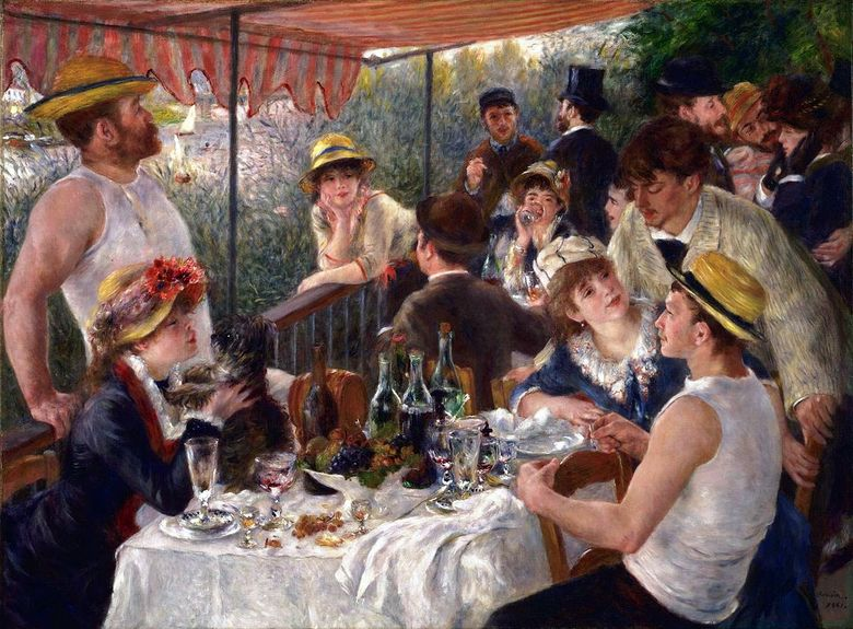 Rowers Breakfast   Pierre Auguste Renoir