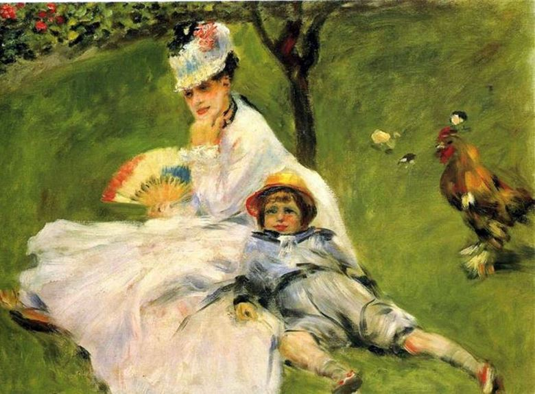 Madame Monet in the Garden   Pierre Auguste Renoir