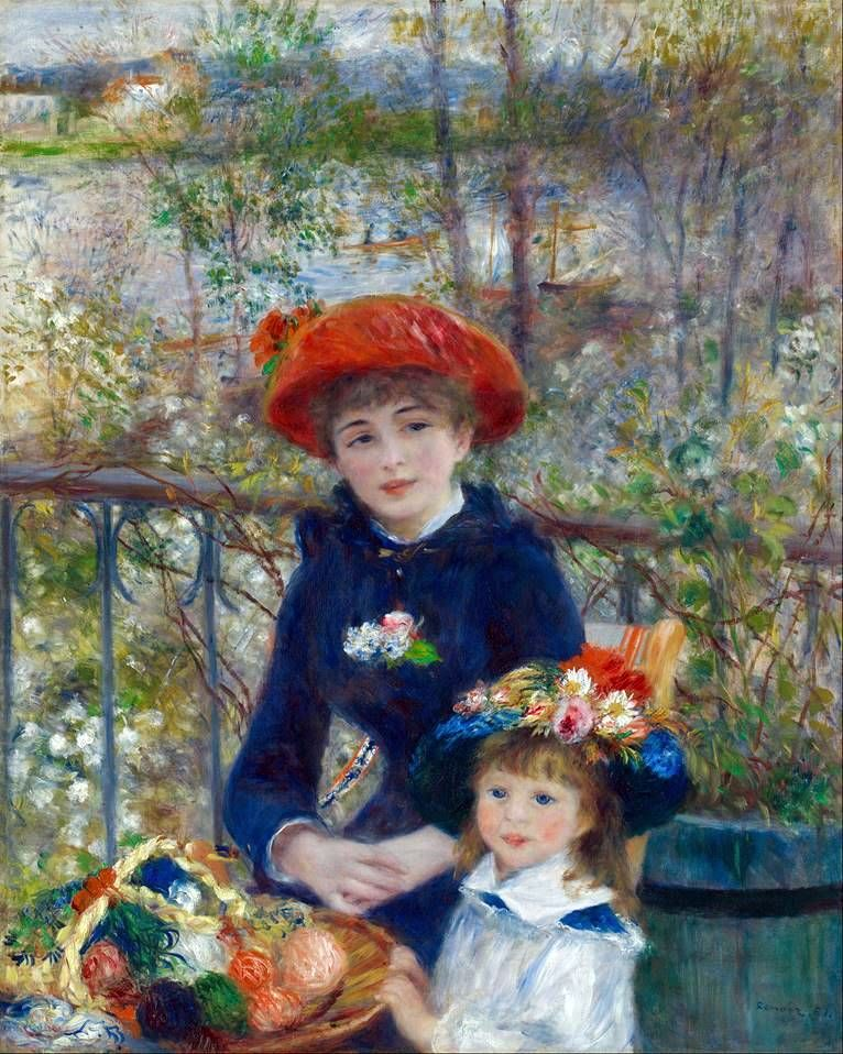 On the Terrace (Two Sisters)   Pierre Auguste Renoir