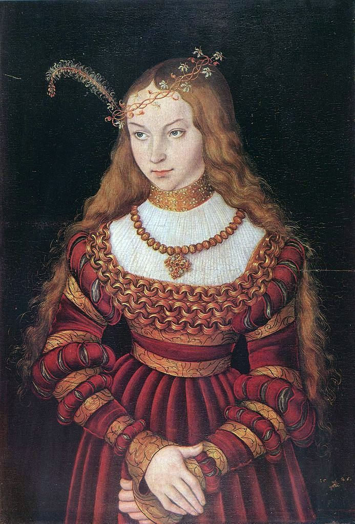 Potret Sibylle of Cleves   Lucas Cranach