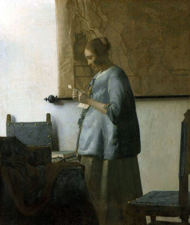 Lady in Blue Membaca Surat   Jan Vermeer
