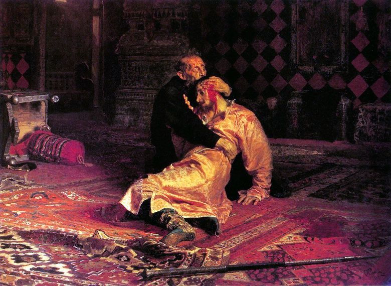 Ivan the Terrible dan putranya Ivan   Ilya Repin