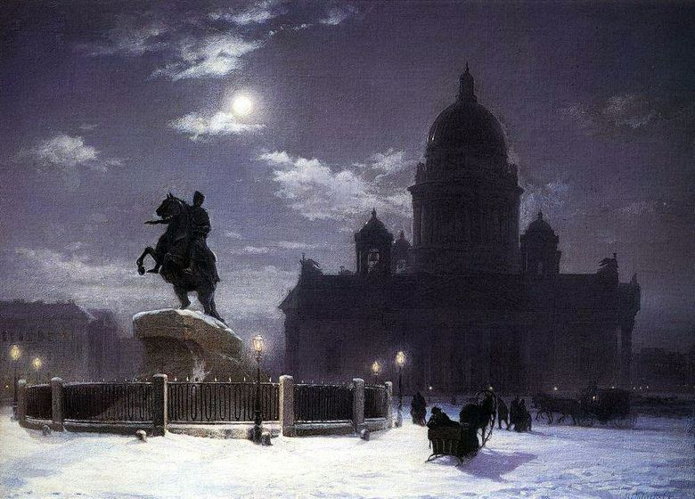 View of the monument to Peter I di St. Petersburg   Vasily Surikov
