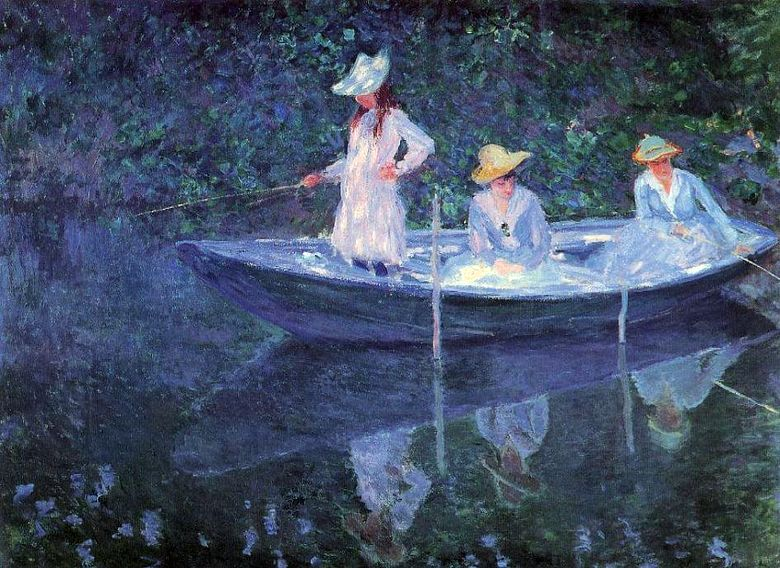 Girls on the boat   Claude Monet