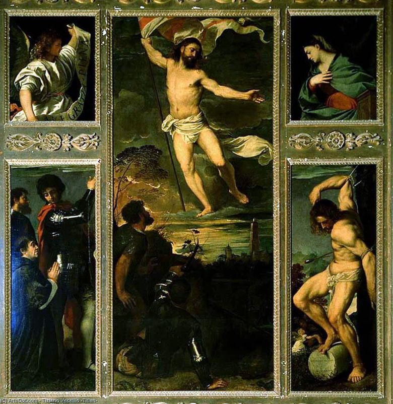Polyptych of the Resurrection   Titian Vecellio