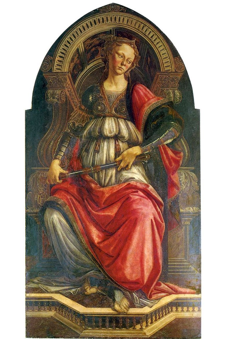 Alegory of Strength (Fortitude)   Sandro Botticelli